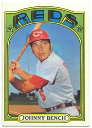 1972 Topps Baseball Cards      433     Johnny Bench